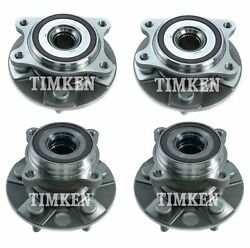 Front And Rear Wheel Bearing And Hub Assembly Kit Timken For Lexus Ls460 Ls600h Awd