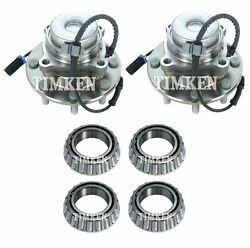 For Express Savana 4500 2wd 09-16 Front And Rear Wheel Bearings And Hubs Kit Timken
