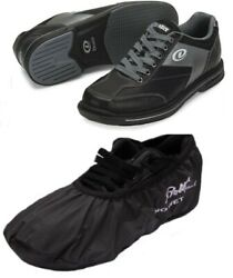 Mens Dexter Match Play Bowling Shoes Interchangeable Size 7 1/2 Rh And Shoe Covers