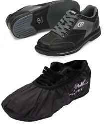 Mens Dexter Match Play Bowling Shoes Interchangeable Size 9 1/2 Rh And Shoe Covers