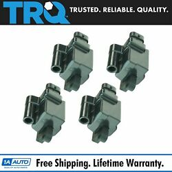 Trq Square Ignition Coil Set Of 4 For Gmc Cadillac Chevrolet Sierra H2 Pickup