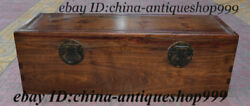 32 Old Chinese Huanghuali Wood Carving Storage Jewelry Box Treasure Case Statue