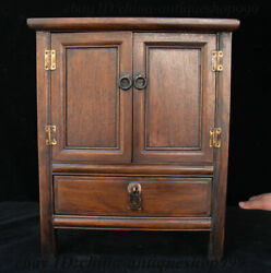 15 Old Chinese Huanghuali Wood Drawer Locker Cabinet Storage Jewelry Box Table