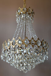 Antique Vintage Crystal Chandelier Home Interior Ceiling French Lighting Lamp