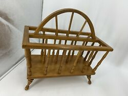 Vintage Authentic Furniture Products Maple Wood Magazine Rack Made In Japan