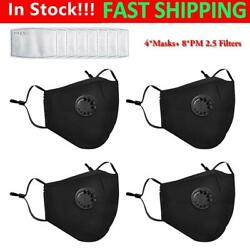 4x Mask Face Mouth Cover w 8x PM 2.5 Filter Air Purifying Cycling Protective $12.99