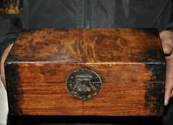 Antique China Huanghuali Wood Dynasty Jewelry Vessel Box Ghost Eye Storage Boxes