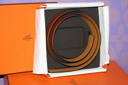 Hermes Belt Strap Only Reversible 2-tone Brown Gold/cognac 105 42mm Discontinued