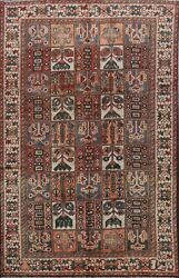 Antique Garden Design Bakhtiari Area Rug Hand-knotted Wool Oriental 6and039x9and039 Carpet