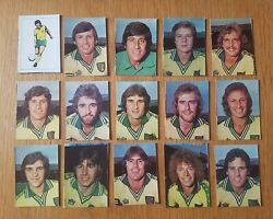 Ava Americana Football Special And03979 - Set Of 15 Norwich City Stickers - 1979