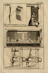 Antique Print-tapestries-warp-loom-position-buys-1770