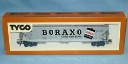 Vintage Tyco Ho Scale Electric Trains Gacx 61385 Boraxo 54 Foot Covered Hopper