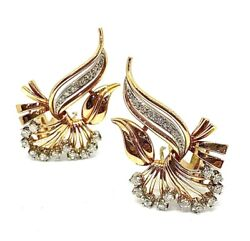 Antique Vintage With Diamonds 18k Gold Earrings
