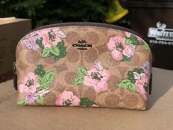 NWT COACH Cosmetic Case Pouch 17 With Floral Bouquet Print Gift Limited Edition $85.00