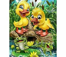 Diy Diamond Painting Ducks And Frogs Design Portrait House Wall Decor Embroidery