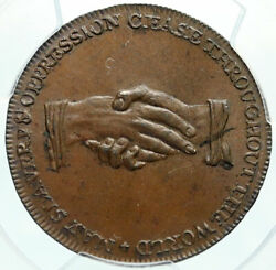 1790and039s England Great Britain Abolitionist Anti Slavery Conder Token Pcgs I84009
