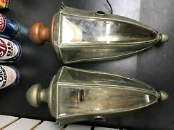 Vintage Pair Pierce Arrow Pillar Lamp Coach Light Original 1910 Auto Car Antique