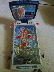 marvel Spiderman 2 Electronic Tabletop Pinball, Tested, Read Description