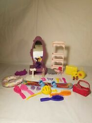 Vintage 1990's Barbie Doll Accessories Lot Of 27 Suitcases,snowboard And More