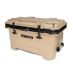 Igloo 00049858 IMX 70 Qt. Insulated Ice Chest Roto Molded Cooler w Handles Tan $169.99