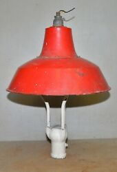 Gas Station Island Light Fixture 20 1/2 Dia Shade Lamp Antique Collectible