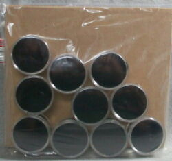 10 Us Half-dollar Size Black Display Cups For Buttons Coins Gems And More