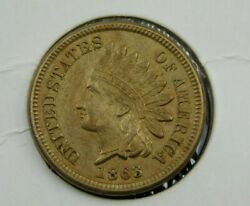1863 Indian Head Cent Penny, Vg Collector Coin Better Date 678