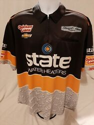 Stewart-haas Racing Team Issue 2xl Ryan Newman 39 Chevy Race Used Pit Crew Shirt