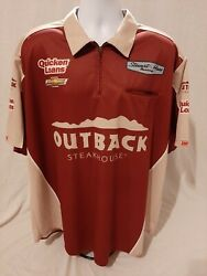 Stewart-haas Racing Team Issued 2xl Ryan Newman Outback Race Used Pit Crew Shirt