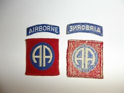 E4301 Ww2 Us Army 82nd Airborne Division Patch Original With Tab R3d