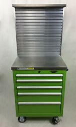Viper Rolling Cabinet Alum Slatwall Back And Counter Lime Green Time Shaver Wk9