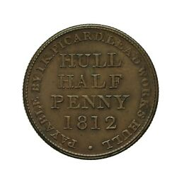 Yorkshire Hull Lead Works Halfpenny Token 1812  I K Picard  Withers 785
