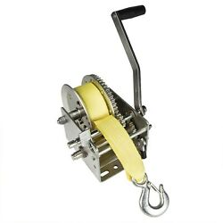 Fulton 142424 Dual Speed Tow Winch With 20 Foot Strap 3200 Pound Capacity