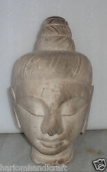 Vintage Collectible Large Marble Rare Buddha Head Extremely Rare Figurine H762