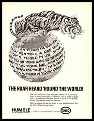 1967 Enco Gas Humble Oil Put A Tiger In Your Tank World Languages Print Ad
