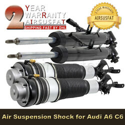 4pcs Rear Front Air Suspension Shock Strut For Audi A6 And S6 C6 /4f 4f0616040n