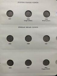 Nearly Complete Us Flying Eagle And Indian Head Cent Set Lacking 5 Coins
