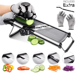 Mandoline Food Slicer Adjustable Thickness For Cheese Fruits Vegetables Stainles