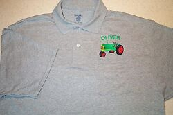 Oliver 77 Tractor Mens Embroidered Polo Shirt W/pocket 4 Colors