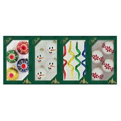Christmas By Krebs Tv510008a North Pole Decorated Glass Ornaments - 4 Pack Pa...