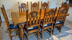Used Homemade Wooden Kitchen Table That Seats 8 Size 84 X 39.25