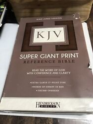 Holy Bible King James Version, Brown, Super Giant Print, Paperback By Hendr