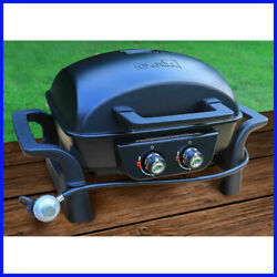 Cast Aluminum Table Top Gas Bbq 2 Burner Barbeque Tailgate Party Picnic Yard