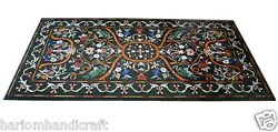 4and039x2and039 Marble Center Dining Side Table Top Rare Pietradura Inlay Home Decor H1664