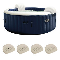 6 Person Inflatable Hot Tub Bubble Jet Spa Purespa Slip-resistant Seat4 Pack