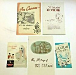 Ice Cream Booklets - 1944 Nat'l Dairy Council, Univ Of Chicago 1952, Assoc. 1969