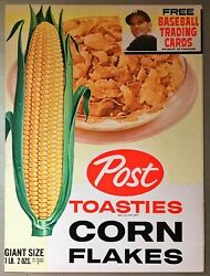 1961 Post Cereal Box Complete Panel Post Toasties Corn Flakes Dick Groat