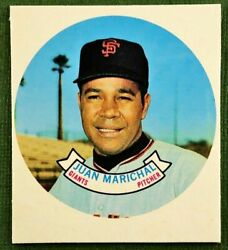 1970 Topps Candy Lid Proof Test Issue Juan Marichal San Francisco Giants Rare