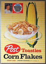 1962 Post Cereal Box Complete Panel Corn Flakes Roger Maris New York Yankees