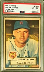 1952 Topps Psa 4 Frank House 146 Gray Back Canadian Detroit Tigers